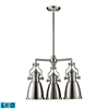 ELK lighting Chadwick 3 Light LED Chandelier In Satin Nickel