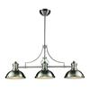 ELK lighting Chadwick 3 Light Billiard In Satin Nickel