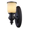 ELK lighting Chadwick 1 Light Wall Sconce In Oiled Bronze And Amber Glass