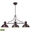 Chadwick 3 Light LED Billiard In Oiled Bronze