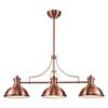 Chadwick 3 Light Billiard In Antique Copper