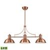 Chadwick 3 Light LED Billiard In Antique Copper