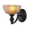 ELK lighting Norwich 1 Light Wall Sconce In Oiled Bronze And Amber Glass