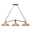 ELK lighting Norwich 3 Light Billiard In Oiled Bronze And Amber Glass
