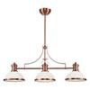 Chadwick 3 Light Billiard In Antique Copper And White Glass
