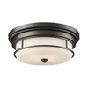 ELK lighting Newfield 2 Light Flushmount In Oiled Bronze