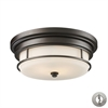 Newfield 2 Light Flushmount In Oiled Bronze - Includes Recessed Lighting Kit