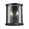 ELK lighting Chesapeake 2 Light Wall Sconce In Oiled Bronze And Clear Glass