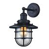 ELK lighting Seaport 1 Light Sconce In Oil Rubbed Bronze And Clear Glass