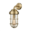 Seaport 1 Light Wall Sconce In Satin Brass