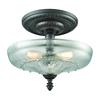 Restoration Flushes 3 Light Semi Flush In Oil Rubbed Bronze With Clear Glass