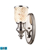 ELK lighting Chadwick 1 Light LED Wall Sconce In Polished Nickel And Cappa Shells