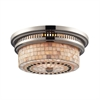 ELK lighting Chadwick 2 Light Flushmount In Polished Nickel And Cappa Shells