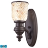 ELK lighting Chadwick 1 Light LED Wall Sconce In Oiled Bronze And Cappa Shells