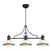 ELK lighting Chadwick 3 Light Island In Oiled Bronze And White Glass