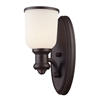 ELK lighting Brooksdale 1 Light Wall Sconce In Oiled Bronze And White Glass