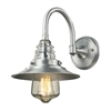 ELK lighting Insulator Glass 1 Light Outdoor Sconce In Brushed Aluminum