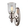 Chadwick 1 Light Wall Sconce In Polished Nickel And Halophane Glass