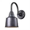 Insulator Glass 1 Light Wall Sconce In Weathered Zinc