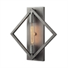 Laboratory 1 Light Wall Sconce In Weathered Zinc