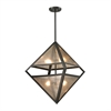 Mica 4 Light Pendant In Oil Rubbed Bronze And Translucent Mica