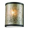 ELK lighting Mica 1 Light Wall Sconce In Oil Rubbed Bronze And Tan Mica