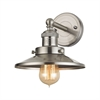ELK lighting English Pub 1 Light Vanity In Satin Nickel
