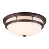 ELK lighting Tiffany Flushes 3 Light Flushmount In Oiled Bronze