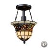 ELK lighting Tiffany Buckingham 1 Light Semi Flush In Vintage Antique - Includes Recessed Lighting Kit
