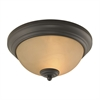 Huntington 2 Light Ceiling Lamp In Oil Rubbed Bronze