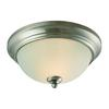 Cornerstone Huntington 2 Light Ceiling Lamp In Brushed Nickel