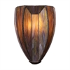 Dimensions 2 Light Wall Sconce In Burnished Copper And Tea Stained Glass