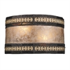 Mica Filigree 2 Light Pocket Sconce In Tiffany Bronze And Tan Mica