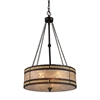 ELK lighting Mica Filigree 3 Light Pendant In Tiffany Bronze And Tan Mica