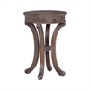 Mahogany Swoop Base Side Table