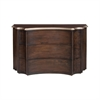 South Chest Heritage Dark Grey Stain,Antique Silver Leaf Accents