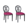 Dimple Chair In Antique Smoke And Cerise Fabric Clean Antique Smoke