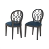 Sterling Dimple Chair In Antique Smoke And Navy Fabric Clean Antique Smoke