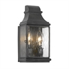 Jefferson Outdoor Wall Sconce In Charcoal And Water Glass