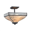 Santa Fe 3 Light Semi Flush In Tiffany Bronze