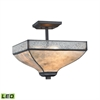 ELK lighting Santa Fe 3 Light LED Semi Flush In Tiffany Bronze