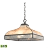 Santa Fe 3 Light LED Pendant In Tiffany Bronze