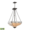 Santa Fe 3 Light LED Chandelier In Tiffany Bronze