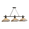 ELK lighting Santa Fe 3 Light Billiard In Tiffany Bronze