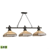 Santa Fe 3 Light LED Billiard In Tiffany Bronze