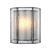 Mirage 1 Light Wall Sconce In Tiffany Bronze With Off-White And Seedy Glass