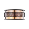 Tremont 2 Light Wall Sconce In Tiffany Bronze With Tan And Brown Mica