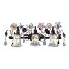 ELK lighting Cristallo Fiore 3 Light Vanity In Deep Rust With Crystal Florets