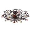ELK lighting Cristallo Fiore 6 Light Flushmount In Deep Rust With Crystal Florets