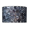 Cirque 1 Light Sconce In Matte Black And Tiffany Glass